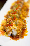 Unagi Roll, Japanese foods Royalty Free Stock Photos