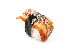 Unagi sushi. Isolated on white background Royalty Free Stock Photography