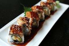 Unagi Sushi. Japanese food menu Unagi Sushi stock photos