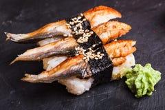 Unagi-Sushi mit Aal Stockfoto