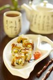 Unagi sushi roll Royalty Free Stock Image