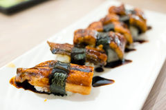 Unagi Sushi Set Japan eel Royalty Free Stock Photos
