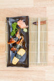 Unagi und süße Ei Sushi Stockfotografie