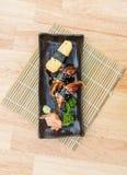 Unagi und süße Ei Sushi Lizenzfreie Stockfotos