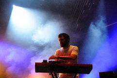 Unai Lazcano, keyboardist of Delorean band Royalty Free Stock Photography
