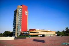 UNAM i Mexico Royaltyfri Bild