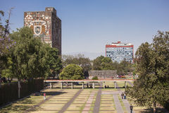 UNAM, Universidad Autonoma de Messico Fotografie Stock Libere da Diritti