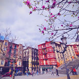 Unamuno Square in Bilbao Royalty Free Stock Image