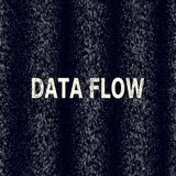 Unaocznienie binarny kod w dane strumieniu Kryptografia, bitkoin, sieka, informacja wektor Oprogramowanie maszynowy kod ilustracja wektor