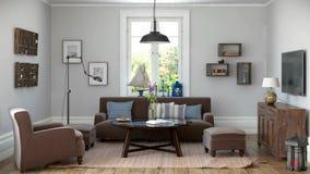 Unaocznienie - scandinavian mieszkanie - pojęcie - pętla ilustracji