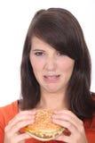 Unappetizing hamburger Royalty Free Stock Images