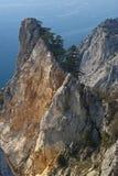 Unapproachable rocks. Natural reserve cape Ajja, Crimea, Ukraine Royalty Free Stock Photos