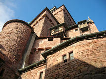 Unassailable citadel. The citadel of the Renaissance Haute Koningsbourg castle in Alsace Stock Images