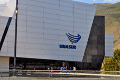 Unasur大厦在基多,厄瓜多尔 免版税图库摄影
