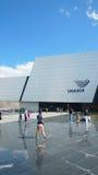 UNASUR的人参观的总部 它是包括12个南美国家的一个政府间地方组织 免版税库存照片
