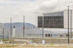 Unasur budynku środka ziemia Quito Ekwador Fotografia Royalty Free