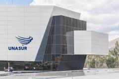 Unasur que construye la tierra media Quito Ecuador Imagen de archivo libre de regalías