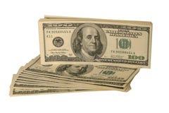 Unated indica i dollari isolati su bianco Fotografia Stock