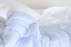 Unattended bed. Bed left unattended in an early morning Stock Images