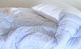 Unattended bed. Stock Image