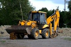 Unattended excavator royalty free stock image