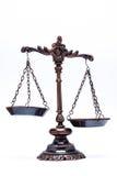 Lokalisierte antike Skala der Gerechtigkeit (nicht balanciert) Lizenzfreie Stockfotografie