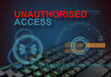 Unauthorised access Stock Photography