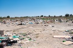 Unauthorized garbage dump Royalty Free Stock Image
