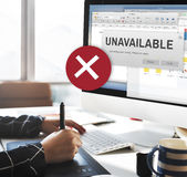 Unavailable Unable Connect Notification Concept Royalty Free Stock Photography