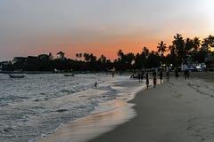 Unawatuna beach at dawn Royalty Free Stock Photos