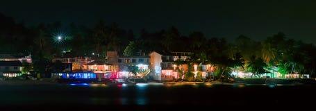 Unawatuna beach at night Royalty Free Stock Photo