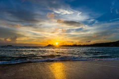 Unawatuna beach at sunset royalty free stock photography