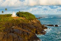 Unawatuna Headland Stupa Cliffs Ocean Stock Image