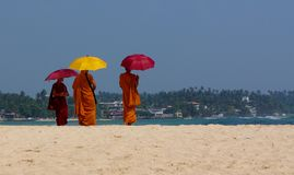 Unawatuna Monks Stock Image
