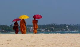 Unawatuna Monks Stock Image
