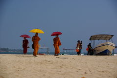 Unawatuna Monks Royalty Free Stock Images