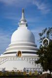 Unawatuna Peace Pagoda, white stupa in Sri Lanka Royalty Free Stock Photography