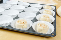 Unbaked buns Royalty Free Stock Images