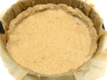 Unbaked cake dough. With baking paper in an baking pan Royalty Free Stock Photos