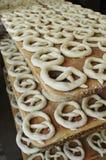 Unbaked pretzel dough Stock Photo