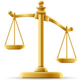 Unbalanced Justice Scale. Justice scale concept with space for text Royalty Free Stock Photo