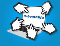 Unbeatable competition concept Royalty Free Stock Images