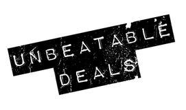 Unbeatable Deals rubber stamp Stock Photos