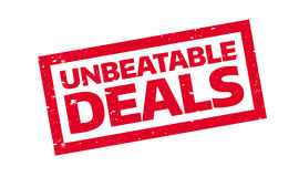 Unbeatable Deals rubber stamp Royalty Free Stock Image