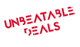 Unbeatable Deals rubber stamp Royalty Free Stock Images