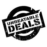 Unbeatable Deals rubber stamp Royalty Free Stock Photo