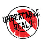 Unbeatable Deals rubber stamp Royalty Free Stock Photos