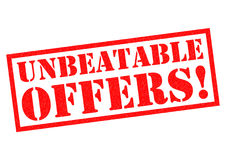 UNBEATABLE OFFERS! Royalty Free Stock Photo