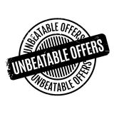 Unbeatable Offers rubber stamp Royalty Free Stock Images