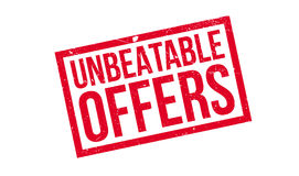 Unbeatable Offers rubber stamp Stock Photography